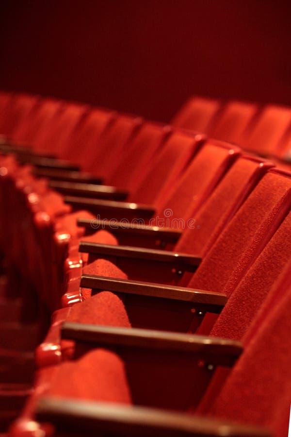 Rode Zetels royalty-vrije stock afbeeldingen