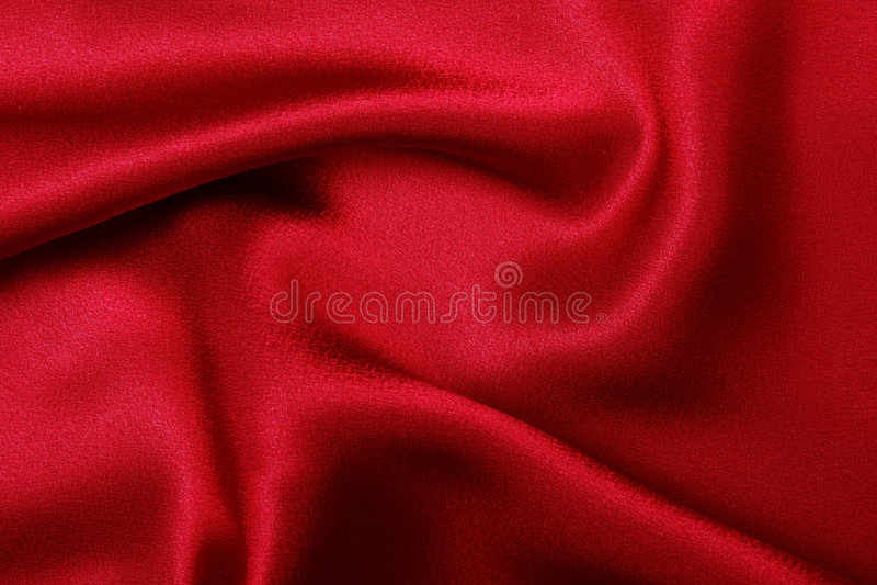 Rode zijde, stock fotografie