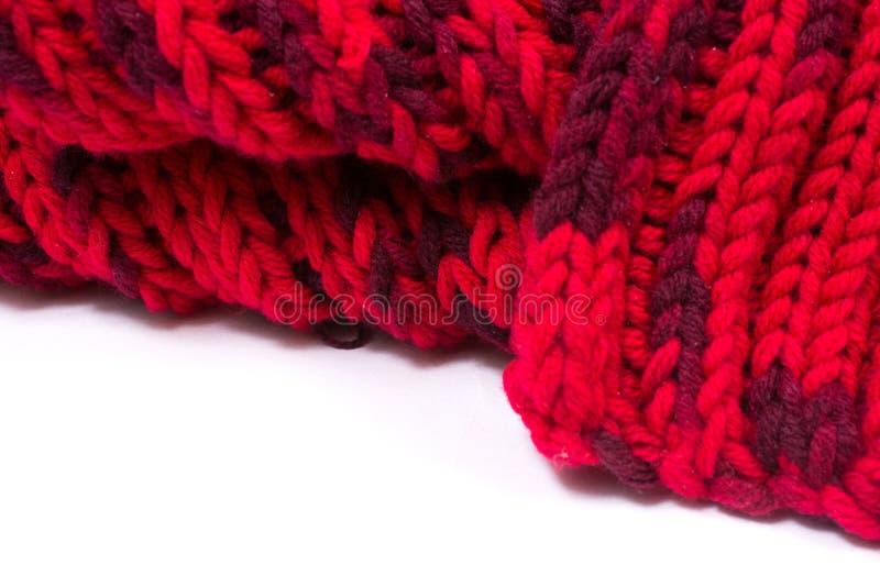 Rode zijde prom Ik breide een kruisend patroon stock afbeelding