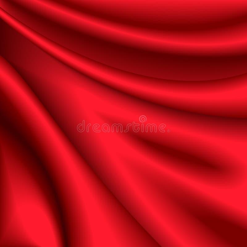 Rode zijdeachtergrond vector illustratie