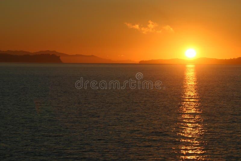 Rode Zonsondergang stock afbeelding
