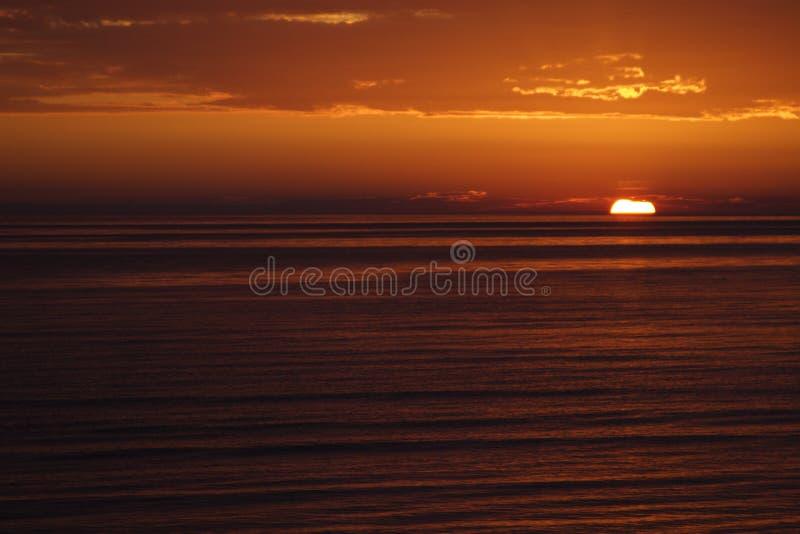 Rode zonsondergang stock foto's