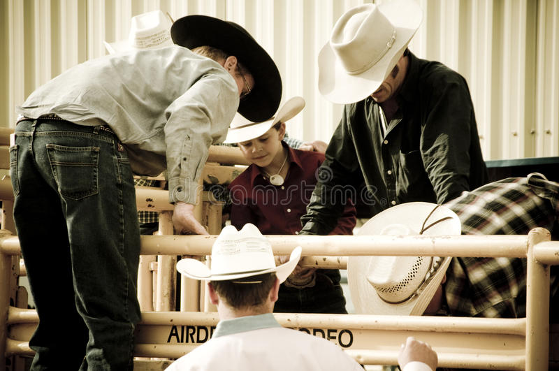 Rodeio e cowboys foto de stock royalty free