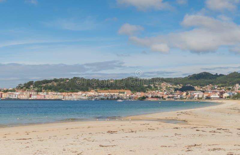 Rodeira海滩在Cangas西班牙 库存图片