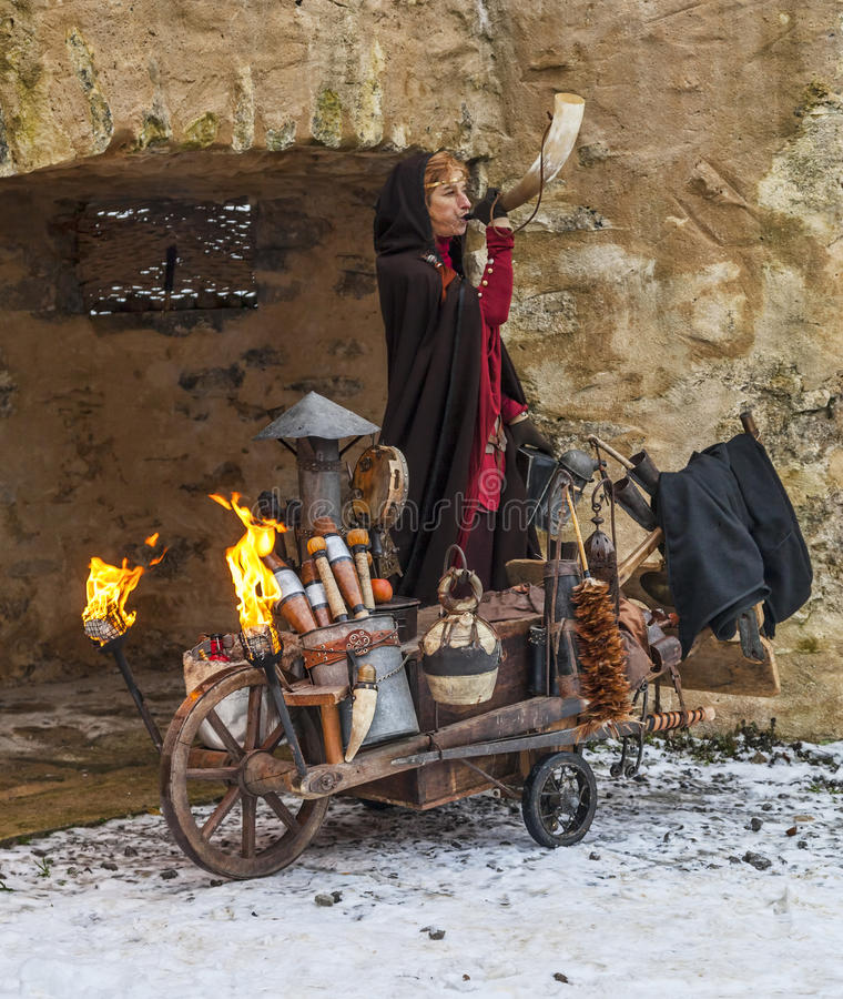 Download Cave Woman editorial photography. Image of medieval, blow - 29807172