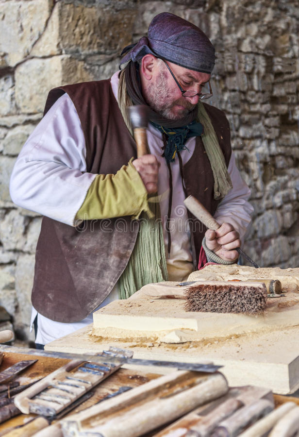 Download Carpenter Working editorial photography. Image of french - 29826077
