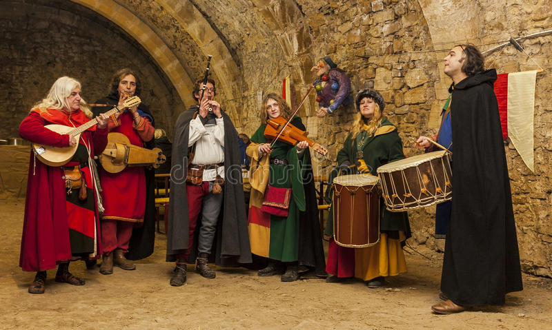 Średniowieczny zespół fotografia stock