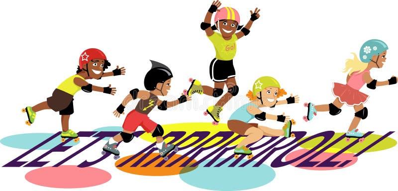 ¡Rodemos! ilustración del vector
