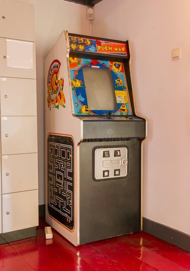 Roden, los Países Bajos, el 11 de enero de 2018 - gami de Puck Man del vintage imagen de archivo libre de regalías