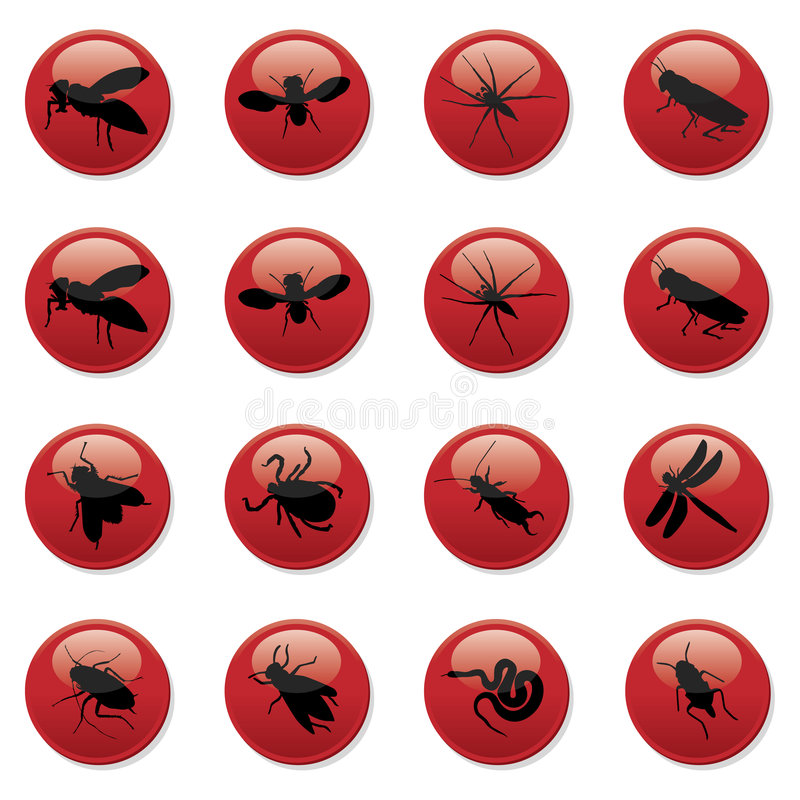 Free Rodent And Pest Buttons 2 Royalty Free Stock Photo - 8777555