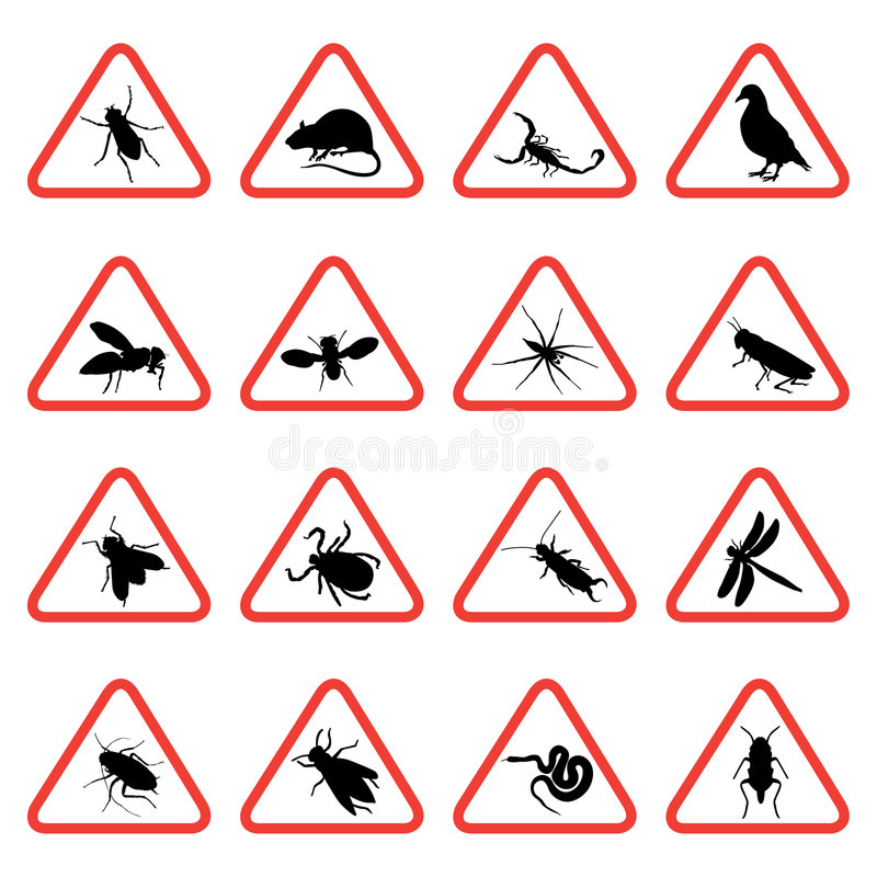 Free Rodent And Pest Warning Signs 2 Stock Photos - 8777573