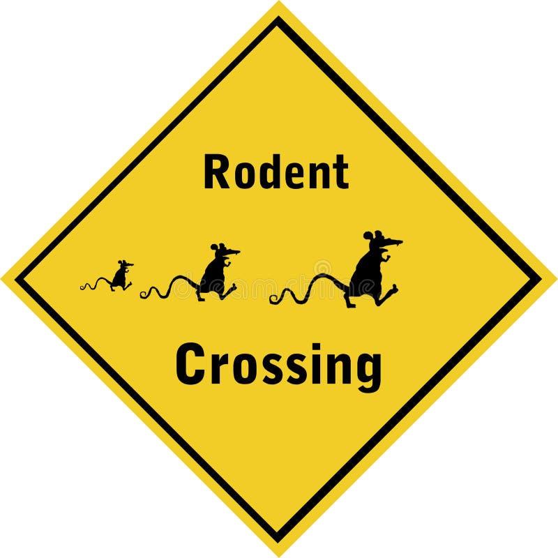 RodentCrossing-01 stock illustratie