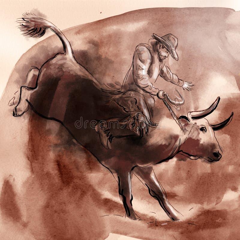 rodeo ilustração do vetor