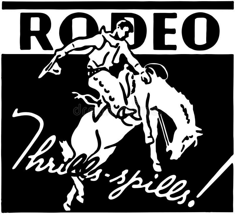 rodeo royalty-vrije illustratie