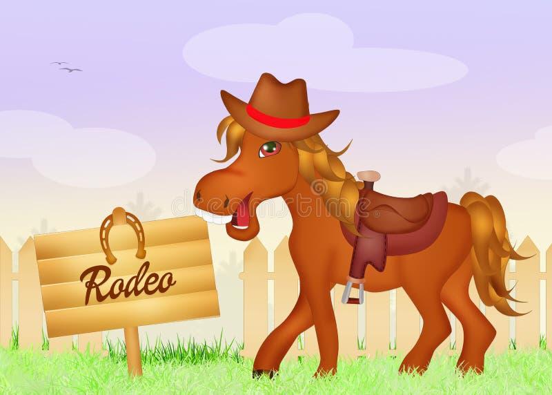 rodeo ilustração royalty free