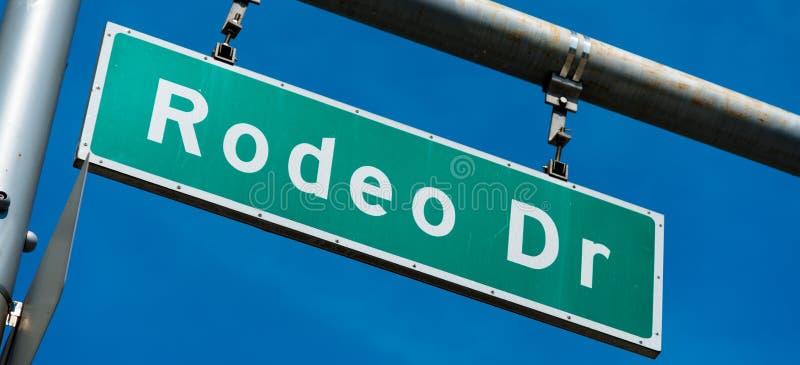 Rodeo-Antrieb Beverly Hills Street Sign stockfotografie