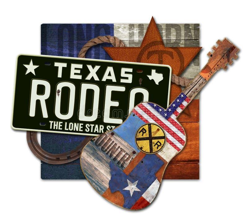 Rodeo Art Texas Steer arkivfoto