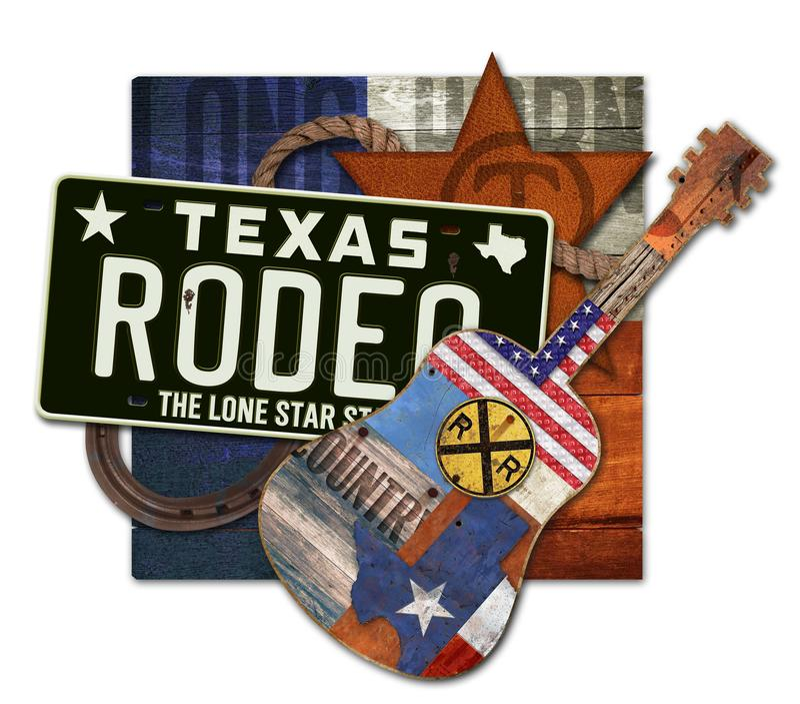 Rodeo Art Texas Steer fotografia stock