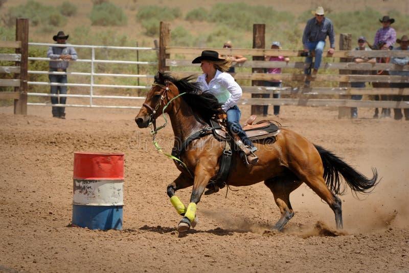 Rodeo Barrel Racing royalty free stock photo