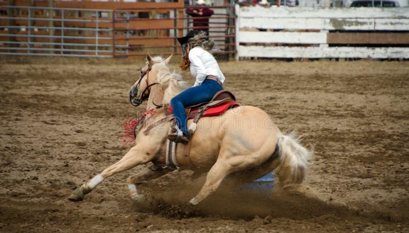 Rodeo Barrel Racing royalty free stock photos