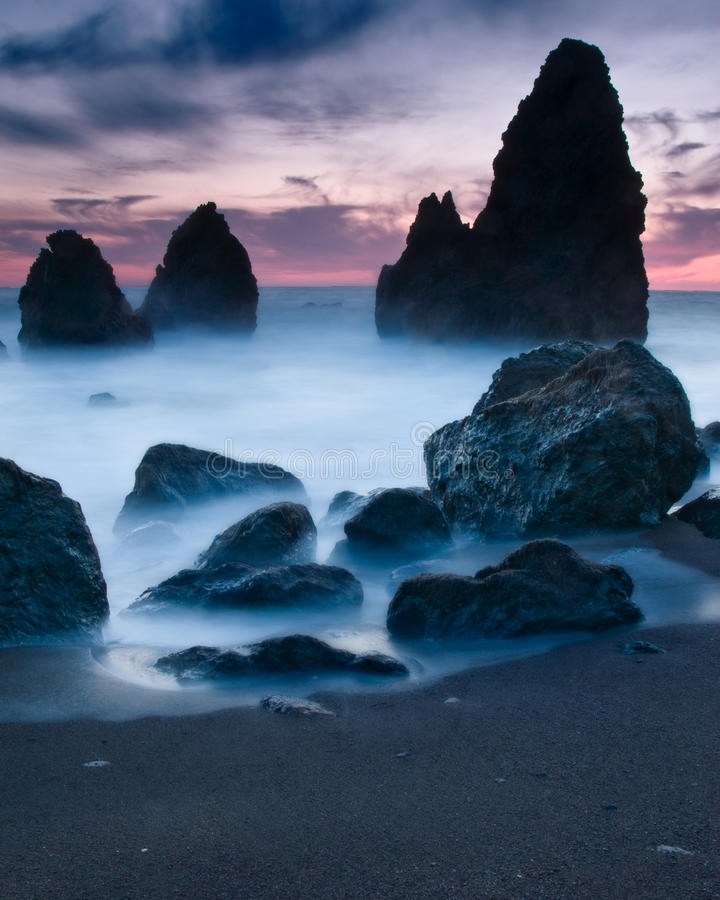 Rodeo Beach, San Francisco California. Rodeo Beach is a beach in the Golden Gate National Recreation Area located in Marin County, California, two miles north of royalty free stock photos