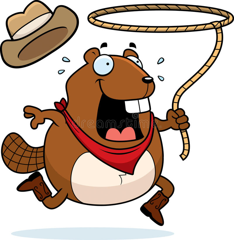 Rodeo Beaver Royalty Free Stock Photography
