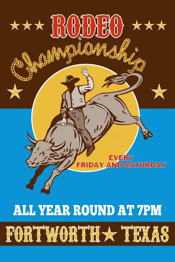 Rodeo Cowboy bull riding vector illustration