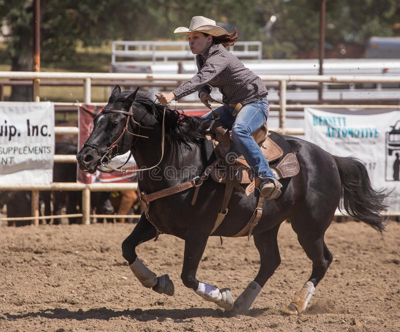 Rodeo Cowgirl stock photos
