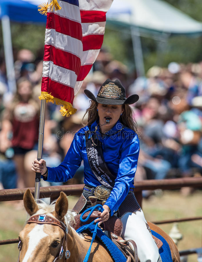 Rodeo Cowgirl royalty free stock images