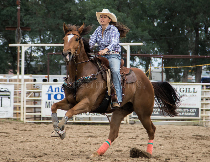 Rodeo Cowgirl royalty free stock image