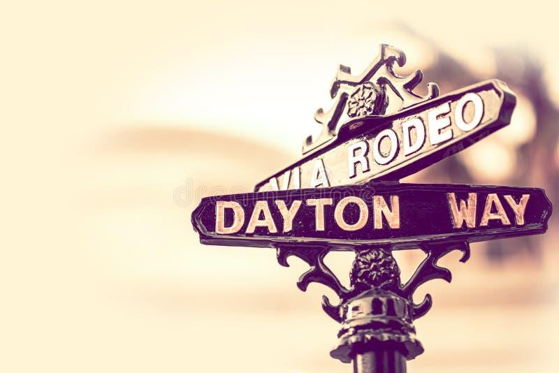 Rodeo Dayton Beverly Hills arkivbilder