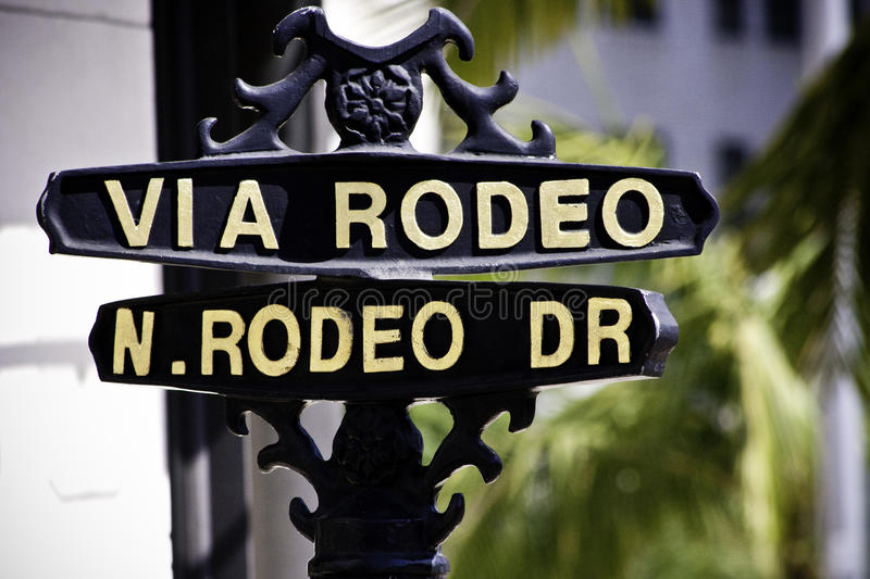 Download Rodeo Dr stock photo. Image of signs, angeles, street - 20091304