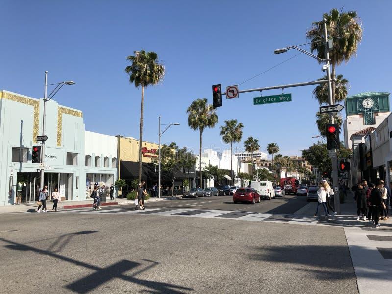 Rodeo Drive à Beverly Hills photo libre de droits