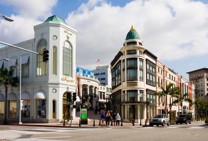 Rodeo Drive à Beverly Hills image stock