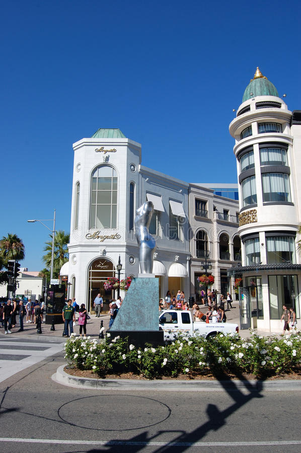 Download Rodeo Drive editorial stock photo. Image of street, lights - 28678398