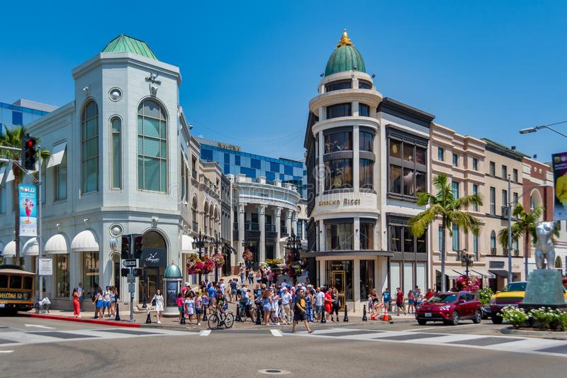 Rodeo Drive ? Beverly Hills image stock