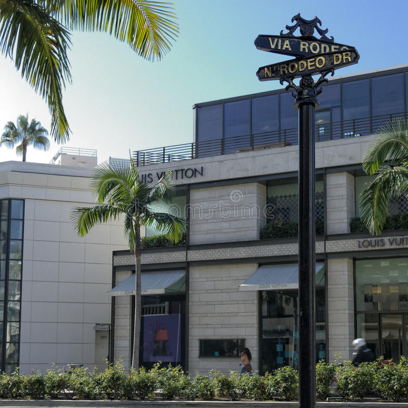 Rodeo Drive. In Beverly Hills California stock photo