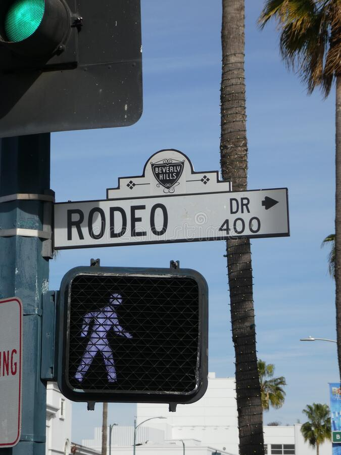 Rodeo Drive in Beverly Hills royalty free stock image