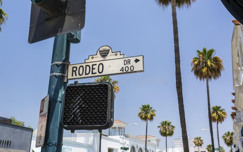 Rodeo Drive, Beverly Hills, Los Angeles, Californië, de Verenigde Staten van Amerika, Noord-Amerika stock foto