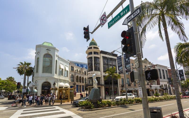 Rodeo Drive, Beverly Hills, Los Angeles, California, los Estados Unidos de América, Norteamérica foto de archivo libre de regalías