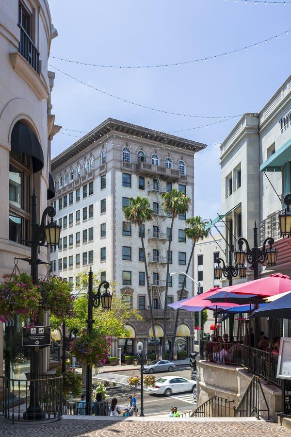 Rodeo Drive Beverly Hills, Los Angeles, Kalifornien, Amerikas förenta stater, Nordamerika arkivbilder