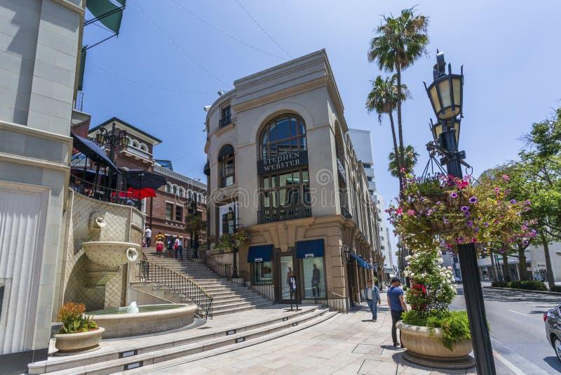 Rodeo Drive Beverly Hills, Los Angeles, Kalifornien, Amerikas förenta stater, Nordamerika arkivfoton