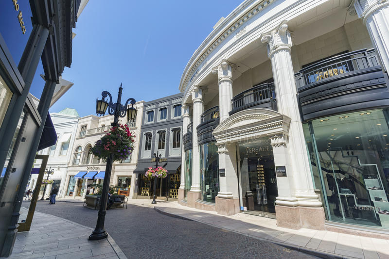 Rodeo Drive in Beverly Hills royalty free stock photos