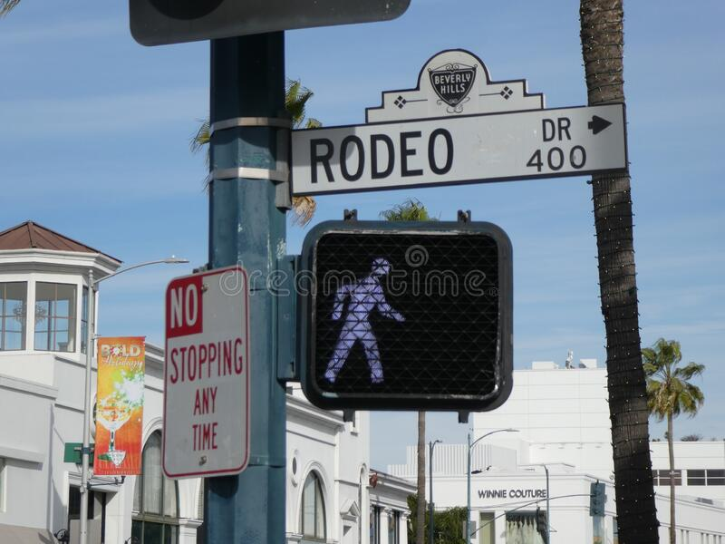 Rodeo Drive in Beverly Hills stock image