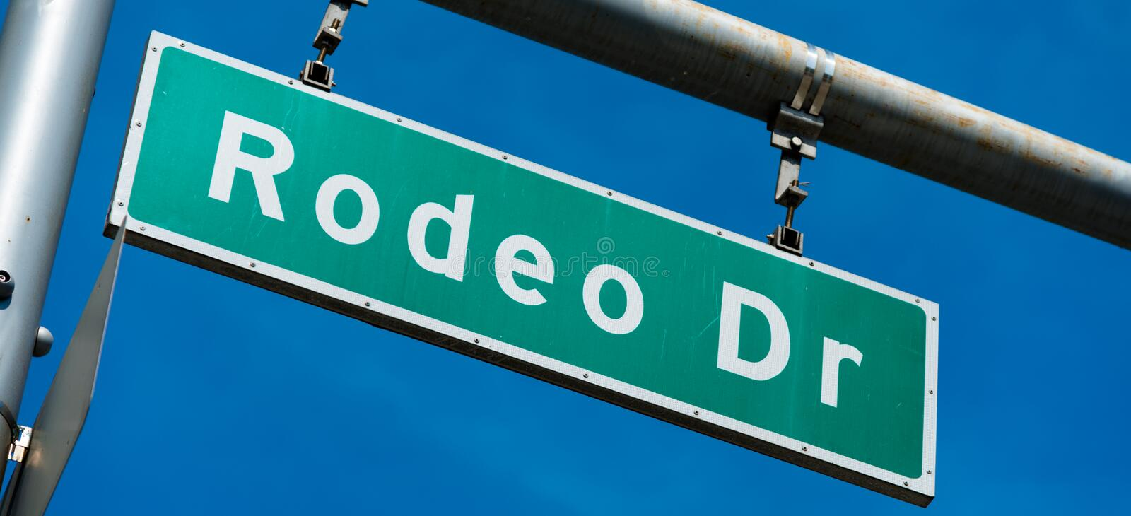Rodeo Drive Beverly Hills Street Sign photographie stock
