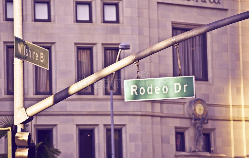 Rodeo Drive Beverly Hills royalty free stock photography