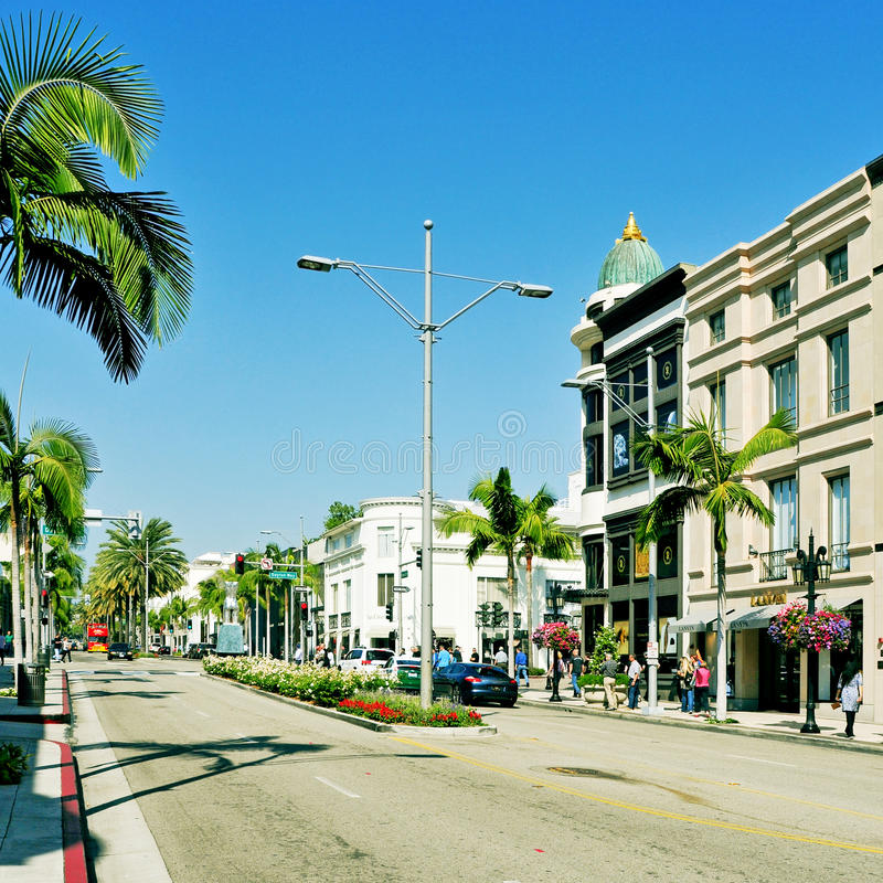 Rodeo Drive, Beverly Hills, United States stock image