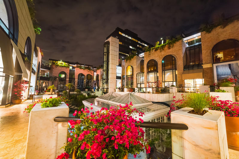Rodeo Drive by night. California stock photography