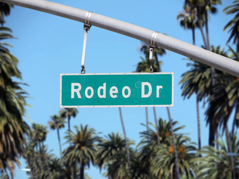 Rodeo Drive Sign stock images