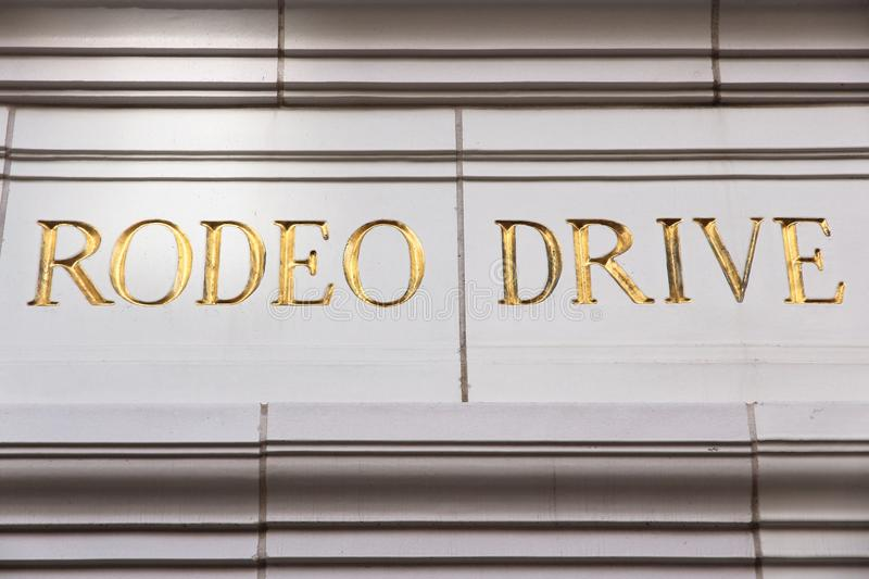 Rodeo Drive. Sign in Beverly Hills, Los Angeles, California, USA royalty free stock photos